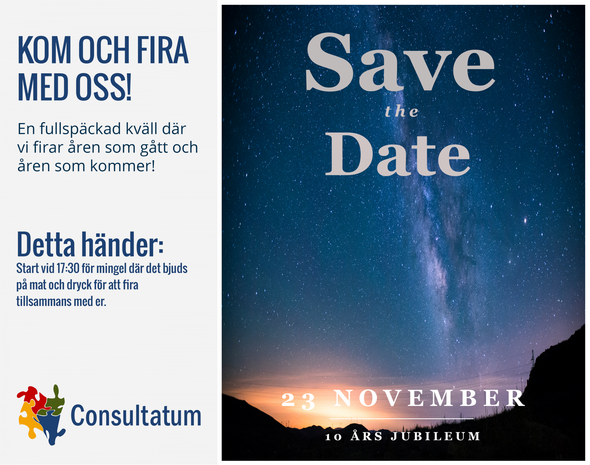 Save the date 10 års jubileum 3